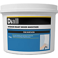 Diall Fine Finish Ready mixed Finishing plaster, 15kg Tub