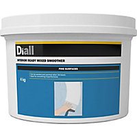 Diall Fine finish Ready mixed Smoothover finishing plaster, 4kg