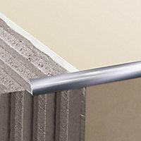 Diall Gloss Chrome effect 12.5mm Round Aluminium External edge tile trim
