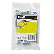 Diall Hex Zinc-plated Carbon steel Coach screw (L)100mm, Pack of 10