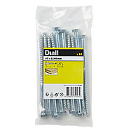Diall Hex Zinc-plated Carbon steel Coach screw (L)140mm, Pack of 10
