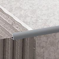 Diall Light grey 9mm Round PVC Tile trim