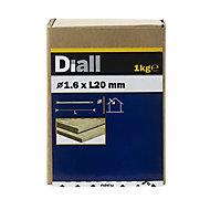 Diall Lost head nail (L)20mm (Dia)1.6mm 1kg, Pack
