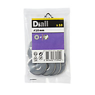 Diall M10 Stainless steel Flat Washer, Pack of 10