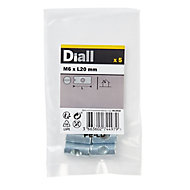 Diall M6 Carbon steel Cross Dowel, Pack of 5