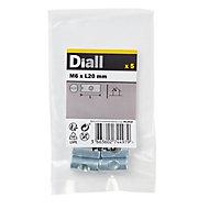 Diall M6 Carbon steel Cross dowel, Pack of 5