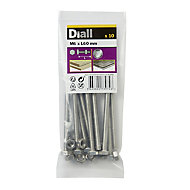 Diall M6 Hex Stainless steel Bolt & nut (L)60mm, Pack of 10