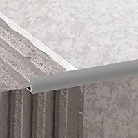 Diall Matt Grey 9mm Round PVC External edge tile trim