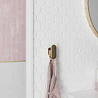 Diall Matt White 9mm Round PVC External edge tile trim
