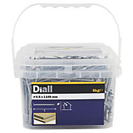 Diall Round wire nail (L)100mm (Dia)4.5mm 5kg, Pack
