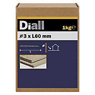 Diall Twisted nail (L)60mm (Dia)3mm 1kg, Pack