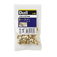 Diall Upholstery nail (L)12mm, Pack of 50