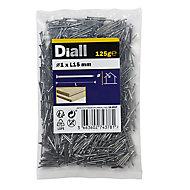 Diall Veneer pin (L)15mm (Dia)1mm 125g, Pack