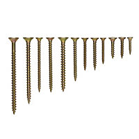 Diall Yellow-passivated Carbon steel Screw, Set of 600
