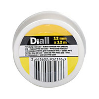 Diall Yellow PTFE Tape (L)12m (W)12mm