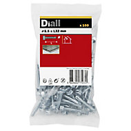 Diall Zinc-plated Carbon steel Metal Screw (Dia)5.5mm (L)32mm, Pack of 100