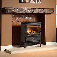 Dimplex Opti-myst Black Cast iron effect Electric Stove