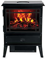 Dimplex Opti-myst Black Cast iron effect Electric Stove