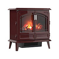 Dimplex Opti-Myst Grand Rouge Cast enamel effect Electric Stove