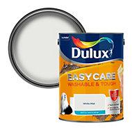 Dulux Easycare White mist Matt Emulsion paint 5L