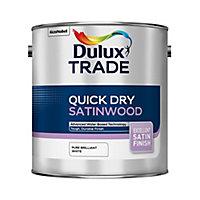 Dulux Pure brilliant white Satinwood Metal & wood paint, 2.5L