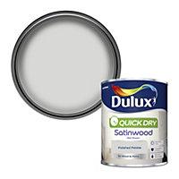 Dulux Quick dry Polished pebble Satinwood Metal & wood paint, 0.75L