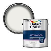 Dulux Trade Pure brilliant white Satinwood Metal & wood paint, 2.5L
