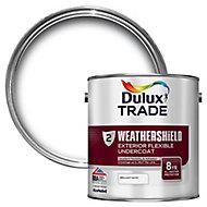 Dulux Trade Weathershield Brilliant white Metal & wood Undercoat, 2.5L