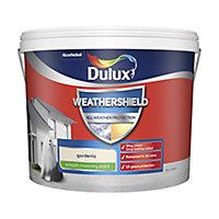 Dulux Weathershield All weather protection Gardenia Smooth Matt Masonry paint, 10L