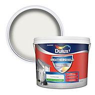 Dulux Weathershield All weather protection Pure brilliant white Smooth Matt Masonry paint, 10L