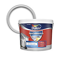 Dulux Weathershield All weather protection Pure brilliant white Textured Matt Masonry paint, 10L