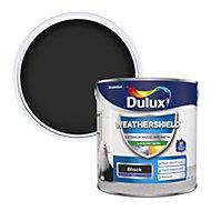 Dulux Weathershield Black Satin Metal & wood paint, 2.5L