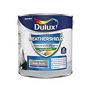Dulux Weathershield Green glade Satin Metal & wood paint, 2.5