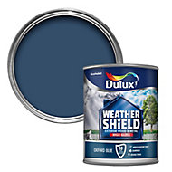 Dulux Weathershield Oxford blue Gloss Metal & wood paint, 0.75L