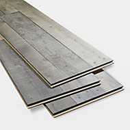 Dunwich Grey Gloss Oak effect Laminate Flooring Sample