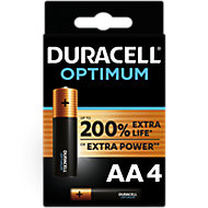 Duracell Optimum Non-rechargeable AA Battery, Pack of 4