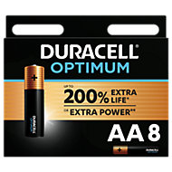 Duracell Optimum Non-rechargeable AA Battery, Pack of 8