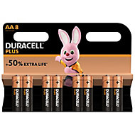 Duracell Plus AA Battery, Pack of 8