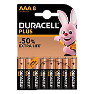 Duracell Plus AAA Battery, Pack of 8