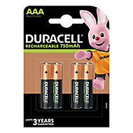 Duracell Rechargeable AAA Battery, Pack of 4