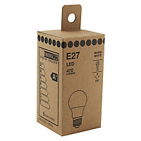 E27 6W 470lm GLS Warm white LED Light bulb