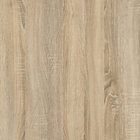 Ebru Matt white oak effect Painted Desk (H)1804mm (W)651mm (D)481mm