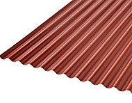 Ecolina Grey & red PVC Corrugated Roofing sheet (L)2.5m (W)1000mm (T)2mm