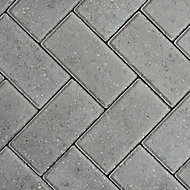 Europa Grey Block paving (L)200mm (W)100mm
