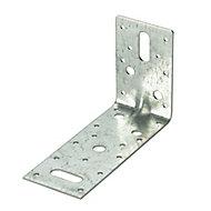 Expamet Zinc effect Galvanised Steel Heavy duty Angle bracket (H)150mm (W)59mm (L)90mm