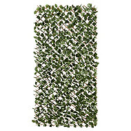 Fabric leave, willow trellis Green Garden screen (H)1m (W)2m