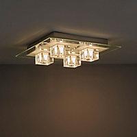 Fama Chrome effect 4 Lamp Ceiling light