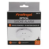 FireAngel SW1-R Optical Smoke Alarm with 1-year battery