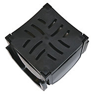 FloPlast ABS & polypropylene Channel drainage corner & grate, (L)118mm (W)134mm