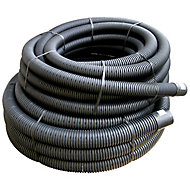 FloPlast Black Flexible Waste pipe (Dia)80mm